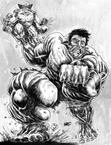HulkWolverineBW